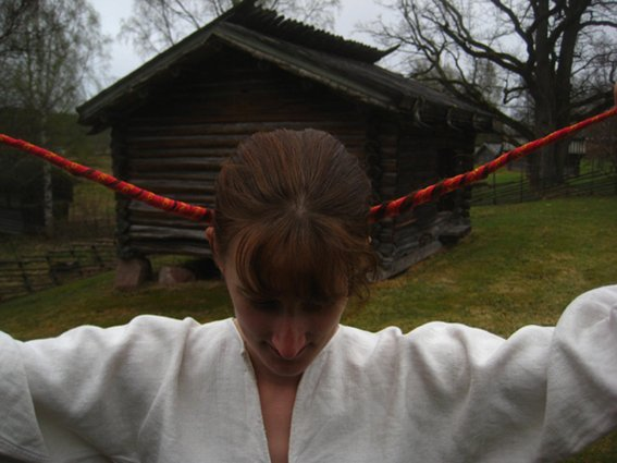oppombindning, moradräkt, hair-tapeing