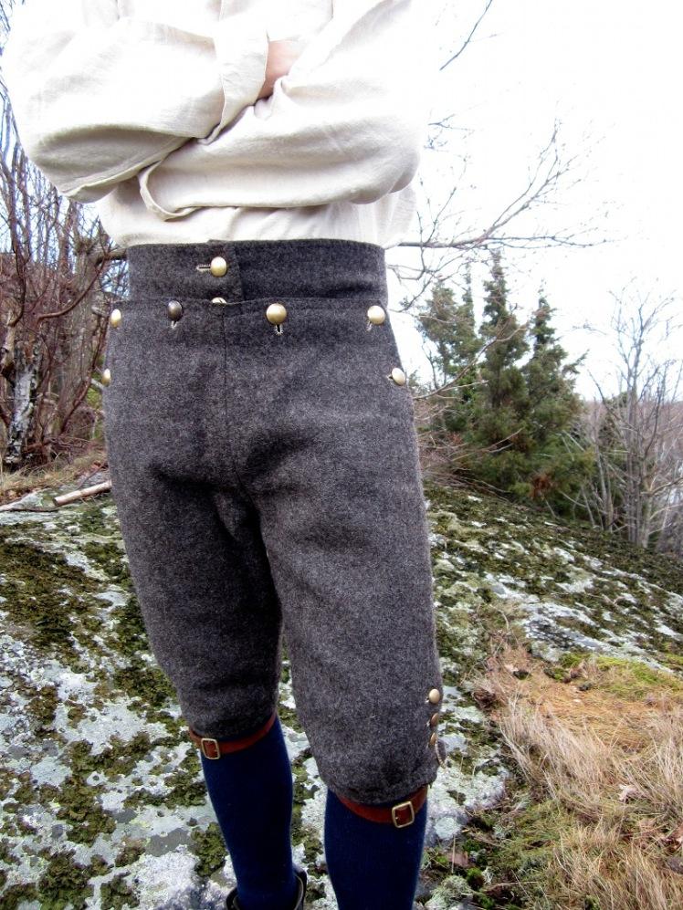folkliga byxor, lucka, 1800-tal