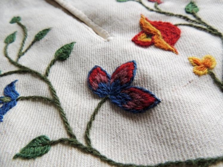 kjolsäck, 1700-tal, pocket, broderi