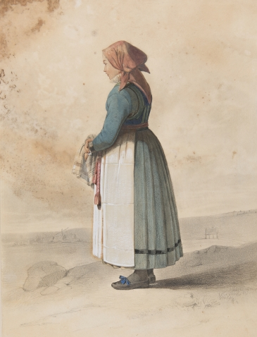 dräktakvarell, nordiska museet