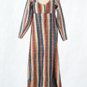 empir, klänning, halvylle