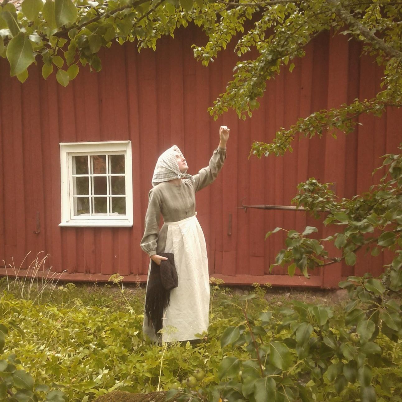 Nyrokokokläning, folklig modedräkt, 1800-tal