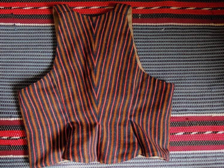 handvävt, livstycke, handsytt, halvylle, 1700-tal