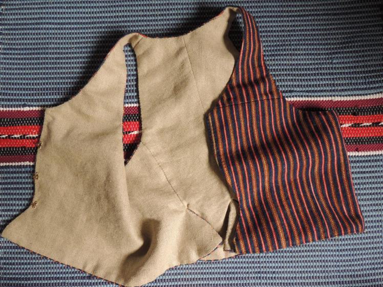 handvävt, handsytt, livstycke, halvylle, 1700-tal, 1800-tal